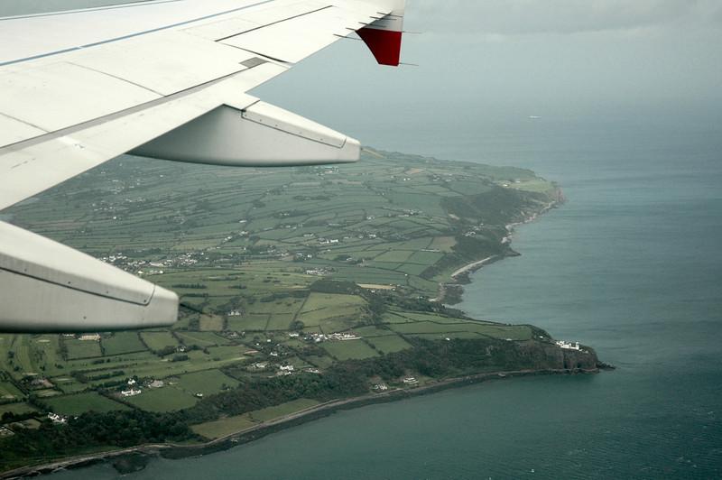 Ireland from an aeroplane