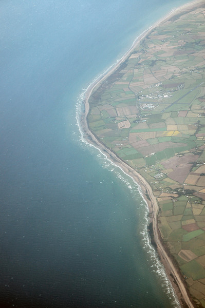 The Irish Coast from an aeroplane