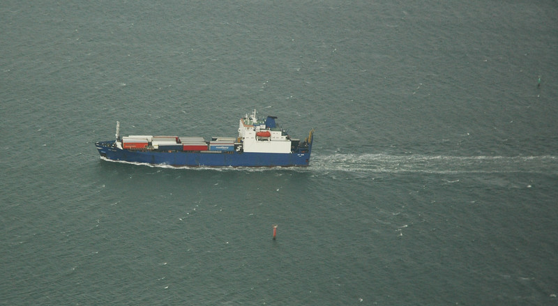 An Irish Sea shipping lane