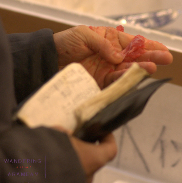 Rolling the tuna in his fingers, the bidder checks the quality and his bid history in the book