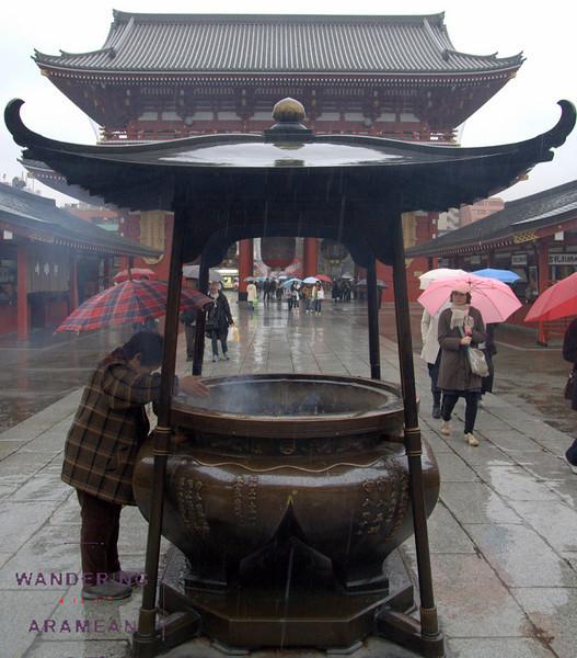 Outside the Sensoji Temple
