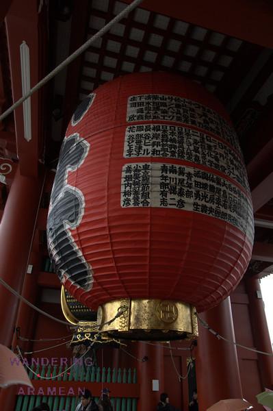 Under the gate to the Sensoji Temple