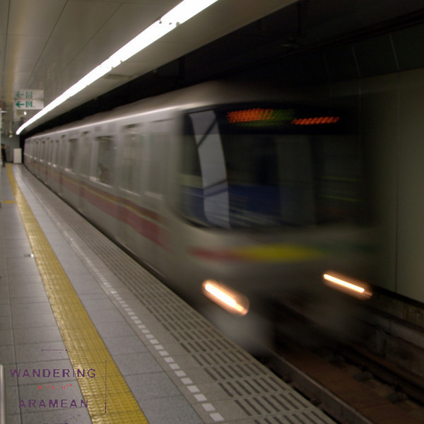 One of the many subway trains I took