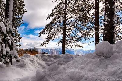 Sneak peak at the mountains beyond.