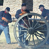 The Fort Sill gun crew getting ready to reload the six pounder