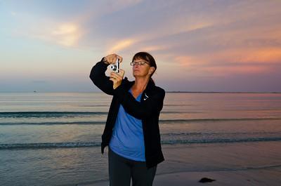 Mom, at Sunrise, Bunche Beach, Ft Myers, FL