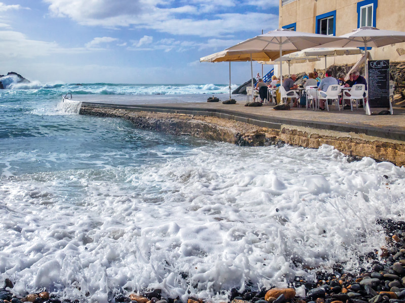 Lunchtime at the Old Harbour, El Cotillo