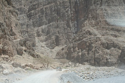 On the road in the wadi.