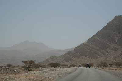 On the road into the wadi. (Thanks to Trevor for this and the following three photos taken in the wadi).