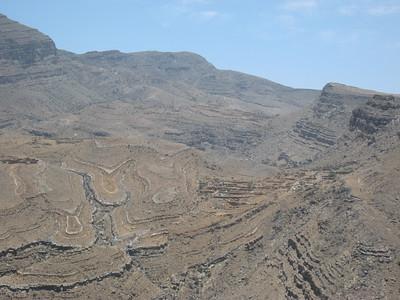 On the road through Wadi Bih - it's a long way down.