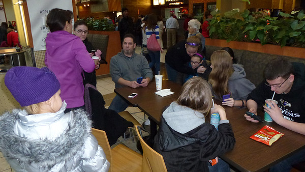 The gang at the Strongsville Mall food court.