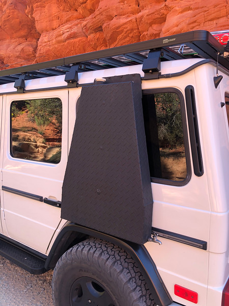 "Side mounted Water Tank for the Mercedes G-Wagen<br /> <a href=""https://www.g-wagenaccessories.com/products/10-gallon-auxiliary-water-storage-tank"">https://www.g-wagenaccessories.com/products/10-gallon-auxiliary-water-storage-tank</a>"