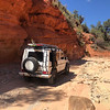 "Sandy trail to Peek-A-Boo Slot Canyon outside of Kanab<br /> <a href=""https://www.g-wagenaccessories.com/products/roof-access-ladder-gwagen-models"">https://www.g-wagenaccessories.com/products/roof-access-ladder-gwagen-models</a>"