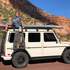 The Corporate Runaway posing at Zion National Park