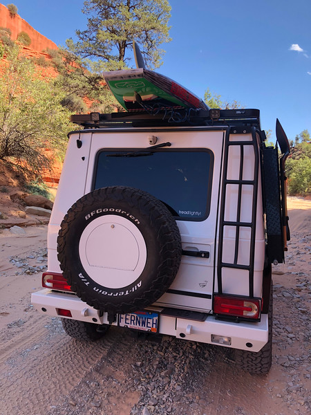 "Getting sandy on our way to Peek-A-Boo Slot Canyon north of Kanab<br /> <a href=""https://www.g-wagenaccessories.com/products/roof-access-ladder-gwagen-models"">https://www.g-wagenaccessories.com/products/roof-access-ladder-gwagen-models</a>"
