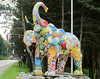 This elephant, and the trees full of flip-flops, are on US30 west of Gettysburg.