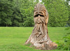 I took a familiar route through Druid Hill Park, where a stump left after a tree was blown over was carved into a druid.