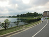 I started out riding around Lake Montebello in Baltimore, a block from our house.