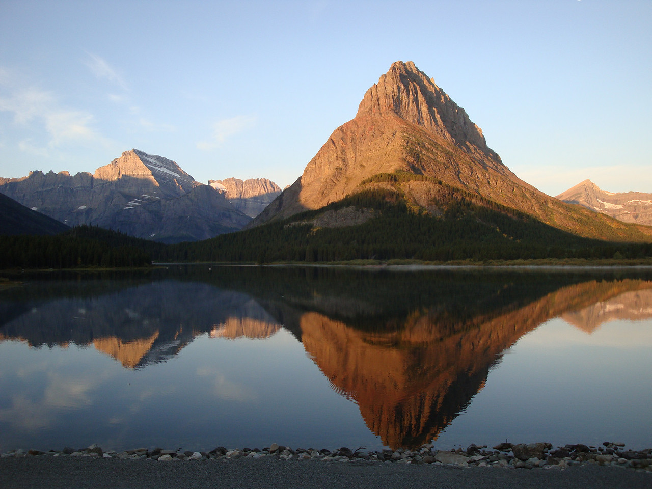 Sunrise at Many Glaciers