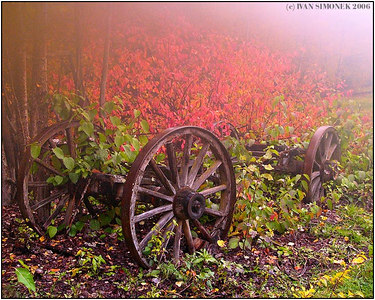 """TRIBUTE TO T.KINKADE"", Glenora Guest Ranch,B.C., Canada-----""POKLONA T.KINKADEMU"", Glenora Guest Ranch, B.K., Kanada."
