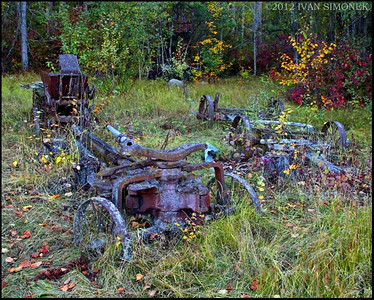 """OLD FARM EQUIPMENT"",Glenore Guest Ranch,B.C.,Canada."