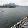 Brooklyn: Across oiler barge toward lower Manhattan