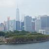 Brooklyn: Deck 8 astern: Toward Governor's Island and south Manhattan