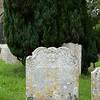 North Stoneham: St Nicholas Church: Ornate headstone and yew tree