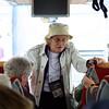 Heathrow: Terminal 3: Pebble Gifford saying thanks and goodbye