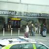 """Heathrow: Terminal 2: """"The Queen's Terminal"""" sign"""