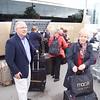 Heathrow: Terminal 2: Group gathering luggage