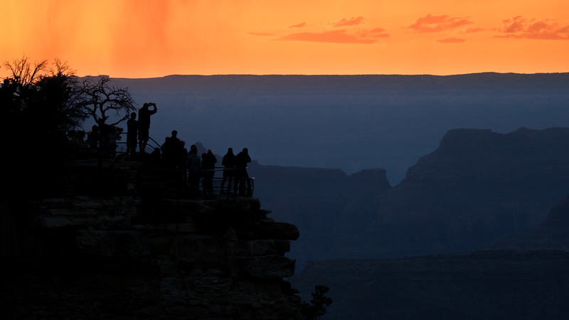CLEARING STORM AT SUNSET - YAVAPAI POINT