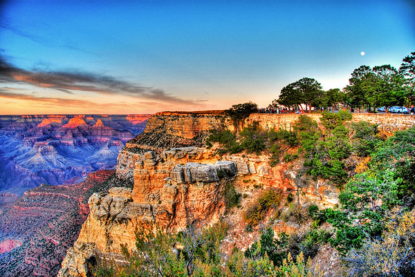 GRAND CANYON AT DUSK-SOUTH RIM