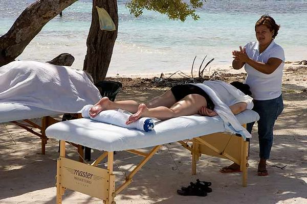 """MASSAGE ON MAHAHUAL BEACH"""