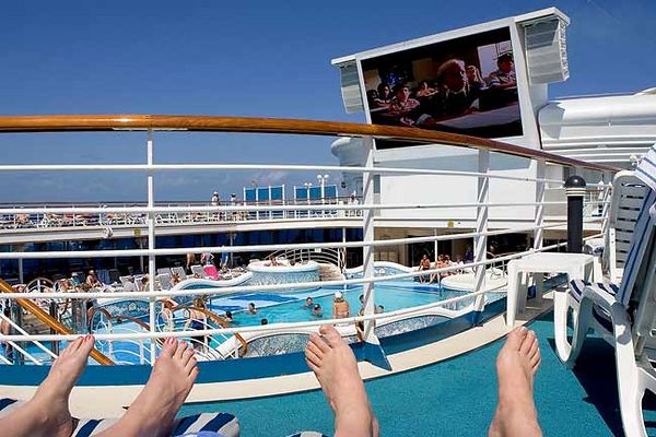 """WATCHING A MOVIE FROM THE SUN DECK"""