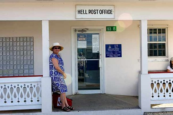 """HELL'S POST OFFICE-GRAND CAYMAN"""
