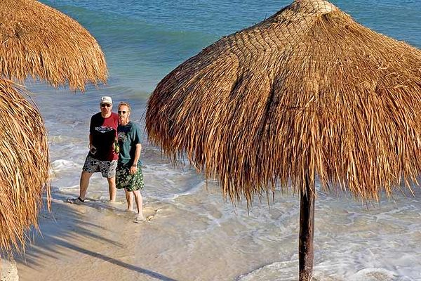 """CARL AND BOBBY AT PLAYA BONITA-COZUMEL"""