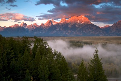 Sunrise on Grand Tetons