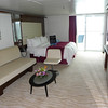 Living area of large accessible cabin. These are some of the nicest at sea!