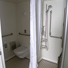 A very spacious accessible cabin bathroom on the Norwegian Epic.