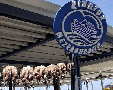 Aegina -- Octopus for sale in open-air market