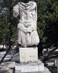 Athens -- The statue of Emperor Hadrian in the ancient Agora