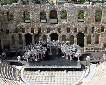 Athens -- The Odeion of Herodes Atticus near the Parthenon.
