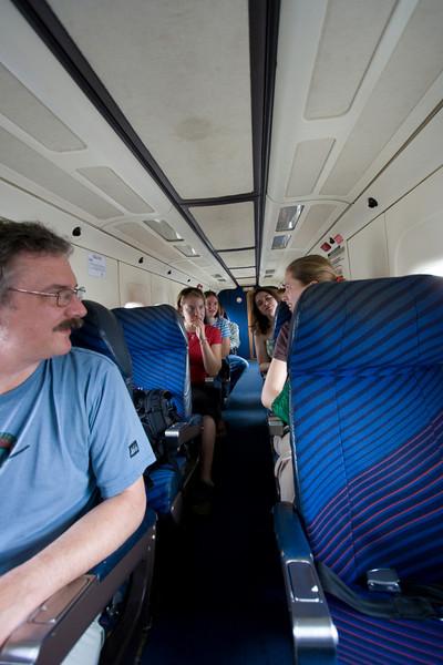 Looking back inside the Dornier 228.