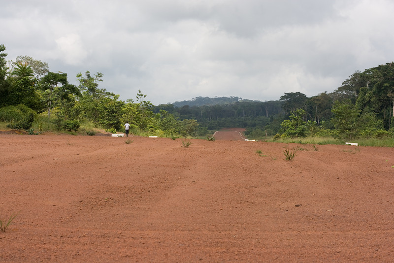 The Ivindo airstrip.
