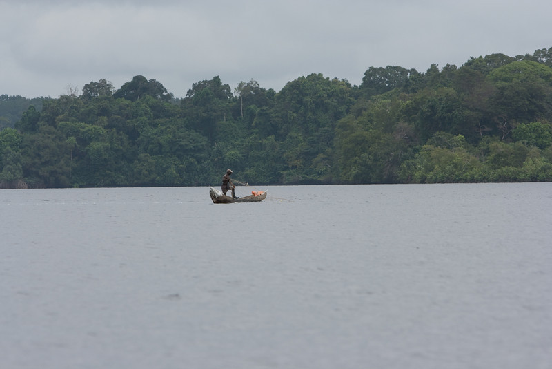 Fishing in the Iguela Lagoon.