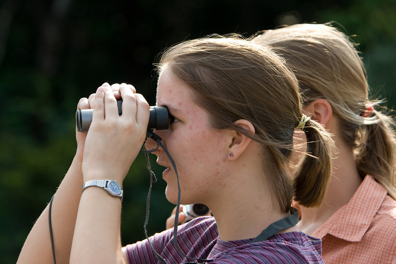 Abby and Gennie checking out wildlife.