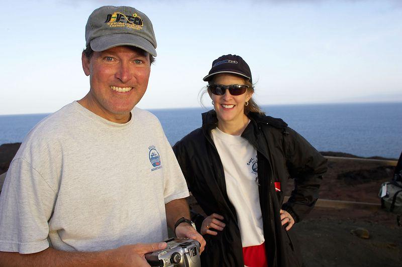Doug and Carol (Galapagos - Bartolome)
