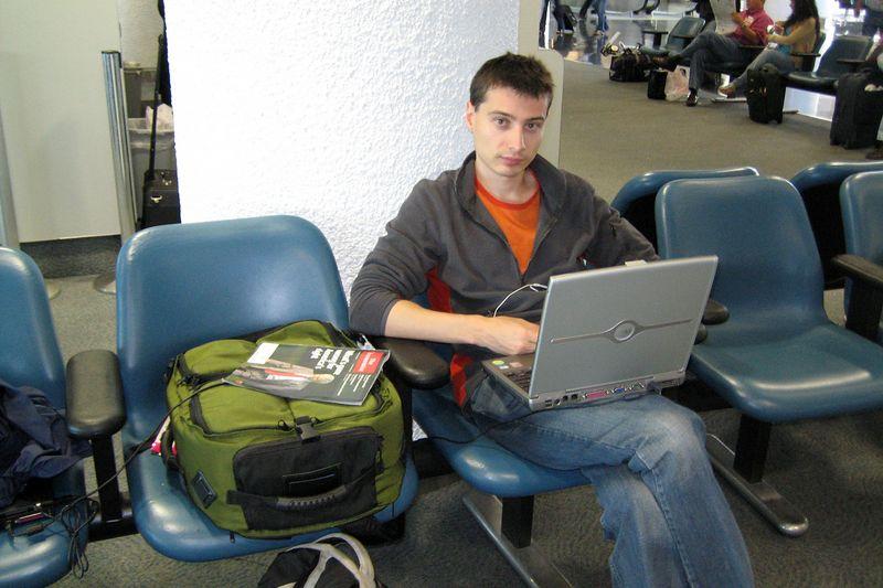 Emile Litvak at the Miami airport