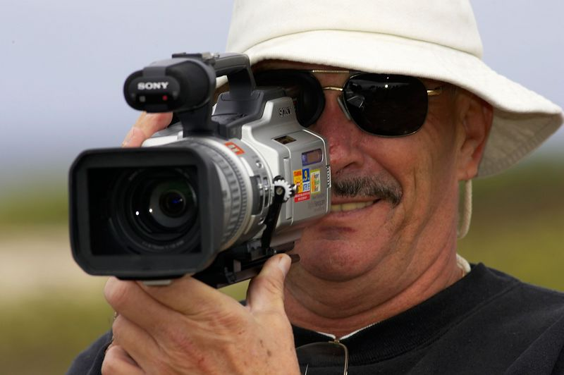 John Boll, videographer (Galapagos - North Seymour)
